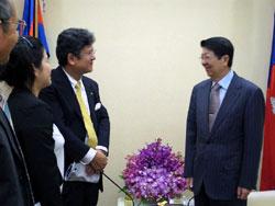 カンボジア ソック・アン副首相と/CIESF
