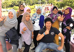 インドネシアでトレーニー中の若手社員