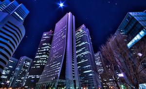 憧れの西新宿のビル群へ