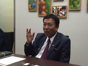 リーダーのあり方について語る櫻田会長