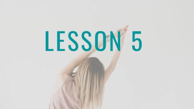 姿勢の達人Lesson5